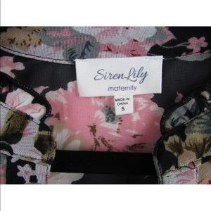 dc3dca26459fc Siren Lily Tops - Siren Lily Maternity Sheer Floral 3/4 Sleeve Top